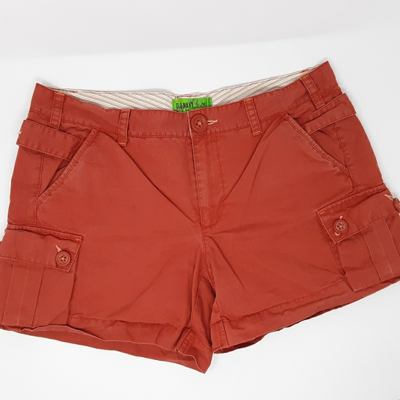 Old Navy Pants - Old Navy Low Waist Red Shorts Ladies 12
